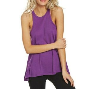 Free People | Slub Long Beach Tank Top Purple MD